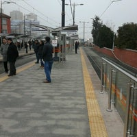 Photo taken at Cevizlibağ - A.Ö.Y. Tramvay Durağı by Törnüklü on 2/6/2013
