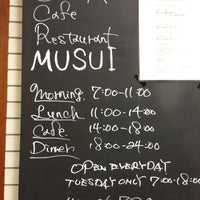 Photo taken at Bistro MUSUI by Tetsuya W. on 4/14/2013