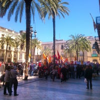Photo taken at Plaça de la Vila by Toni B. on 5/1/2013