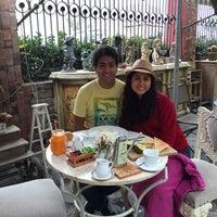 Photo taken at El Jardín Café by Fernando T. on 9/30/2016
