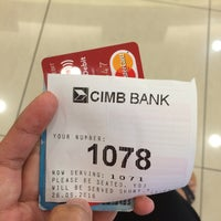 Photo taken at CIMB Bank by Nadzatul N. on 9/26/2016
