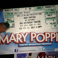Photo taken at Disney's MARY POPPINS at the New Amsterdam Theatre by María Laura C. on 2/18/2013