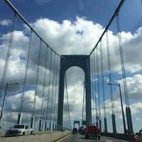 Photo taken at Bronx-Whitestone Bridge by Candy R. on 8/19/2014
