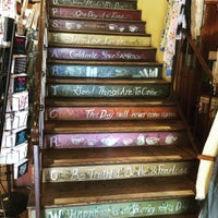Photo taken at Upstart Crow Bookstore & Coffee House by Veena S. on 8/21/2015