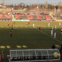 Photo taken at Bozsik Stadion sajtószoba / press room by Adam B. on 3/14/2018