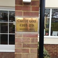 Photo taken at Calcot Golf Course by Miguel F. on 2/8/2013