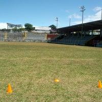 Photo taken at Estadio Municipal de Moravia Pipilo Umaña by Roberto M. on 2/23/2013