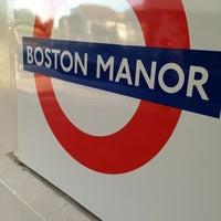 Photo taken at Boston Manor London Underground Station by Alex V. on 6/4/2013
