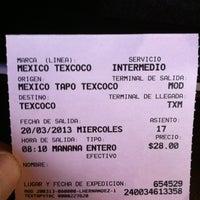 Photo taken at Autobús Mexico Texcoco Cines by Juan Antonio S. on 3/20/2013