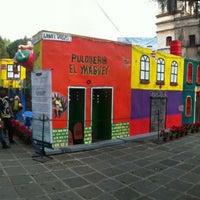 Photo taken at Plaza Hidalgo by Juan Antonio S. on 1/6/2013