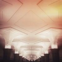 Photo taken at metro Kropotkinskaya by Shawien O. on 3/14/2013