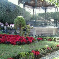 Photo taken at Jardín de la Unión by Edgar F. on 12/15/2012