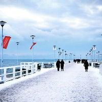 Photo taken at Molo w Brzeźnie by wittamina on 1/14/2013