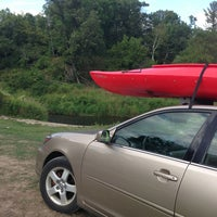 Photo taken at Kickapoo River by Emily N. on 8/18/2013