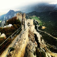 Photo taken at Saint Hilarion Castle by Göksel Ö. on 4/21/2013
