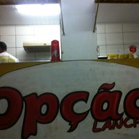 Photo taken at Opção Lanches by Jasmine O. on 3/12/2013