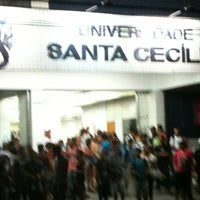 Photo taken at Universidade Santa Cecília (Unisanta) by Teixeira V. on 2/16/2013