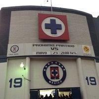 Photo taken at Estadio Azul by Guillermo M. on 5/24/2013