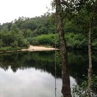 Photo taken at Praia Fluvial De Calvelo by Maria P. on 7/20/2013