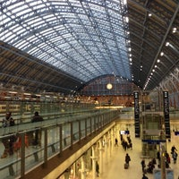 Photo taken at London St Pancras International Eurostar Terminal by Jeffrey W. on 1/7/2013