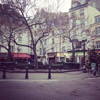 Photo taken at Place de la Contrescarpe by Maria J. G. on 12/26/2012