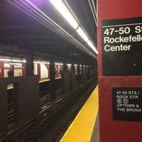 Photo taken at MTA Subway - 47th-50th St/Rockefeller Center (B/D/F/M) by Marc S. on 5/21/2013