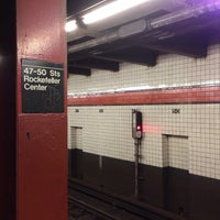 Photo taken at MTA Subway - 47th-50th St/Rockefeller Center (B/D/F/M) by Marc S. on 10/23/2013