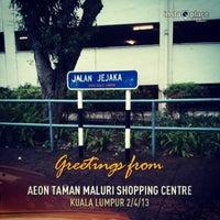 Photo taken at AEON Taman Maluri Shopping Centre by Don F. on 2/4/2013