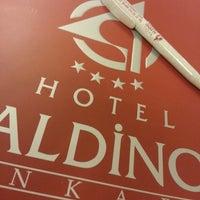 Photo taken at Aldino Hotel by Cem K. on 4/20/2013