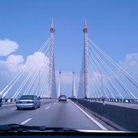 Photo taken at Penang Bridge by Izat T. on 3/16/2013
