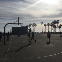 Photo taken at Venice Beach Basketball Courts by Achim H. on 4/17/2017
