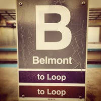 Photo taken at CTA - Belmont (Red/Brown/Purple) by Tim W. on 10/17/2012