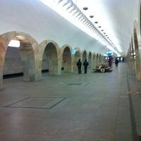 Photo taken at metro Kuznetsky Most by Сергей Л. on 3/12/2013