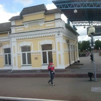 Photo taken at Бобруйск Пассажирский / Bobruysk Railway Station by Natalja T. on 6/21/2014