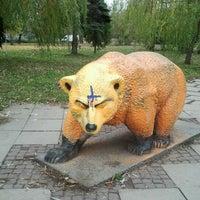 Photo taken at Мечката При Паметника На Съветската армия by anna p. on 11/14/2012