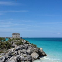 Photo taken at Tulum Archeological Site by Miguel C. on 4/7/2013
