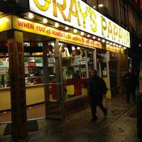 Photo taken at Gray's Papaya by Edwin R. on 1/31/2013