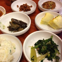 Photo taken at Korean BBQ Delicious Table(맛있는 밥상) by Jeannie C. on 12/20/2012