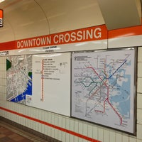 Photo taken at MBTA Downtown Crossing Station by Chris D. on 1/18/2013