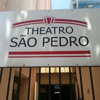 Photo taken at Theatro São Pedro by Vitor P. on 2/18/2013