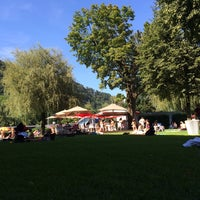 Photo taken at Volksgartenbad by Jo H. on 8/8/2014
