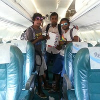 Photo taken at Hanimaadhoo Airport Runway by Moande M. on 3/22/2014
