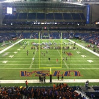 Photo taken at Alamodome by Ross H. on 10/20/2012