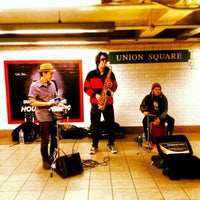 Photo taken at MTA Subway - 14th St/Union Square (4/5/6/L/N/Q/R/W) by PiRATEzTRY on 2/20/2013