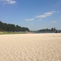 Photo taken at пляж на Пуховке by Yana T. on 8/10/2013