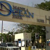 Photo taken at Manila Ocean Park by Charlaine E. on 12/29/2012