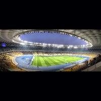 Photo taken at Olimpiyskiy Stadium by Tipsterovich on 10/27/2013