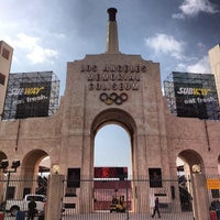 Photo taken at Los Angeles Memorial Coliseum by Arash M. on 10/10/2013