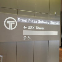 Photo taken at Port Authority Steel Plaza Station by Nick O. on 1/20/2013
