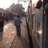 Photo taken at Balharshah Railway Station by Krishna S. on 12/31/2012